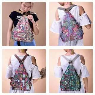 🚚 Backpack female 2019 new casual fashion canvas bag bag small backpack national wind bag