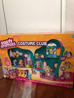 Party animals play house set costume club