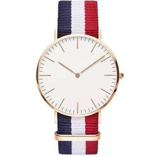 全新簡約石英帆布手錶