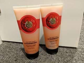 Bodyshop - 2 x strawberry body sorbet - 200ml each