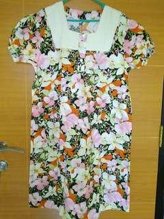 (Preloved) Dress Flower Bumil (Kode:051)