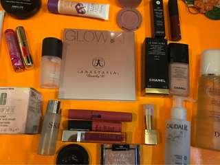 Various branded makeup and skincare