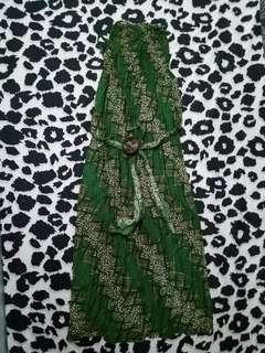 Long dress Batik Hijau