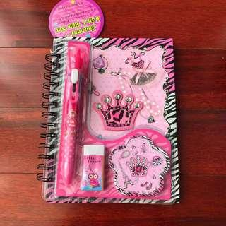Notebook Pink Set