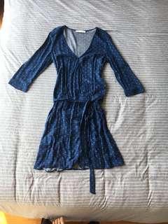 🚚 Promod Printed Wrap Dress