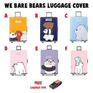 We Bare Bears Travel Luggage Cover / Luggage Protector