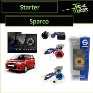 Sale! Sparco Starter . Blacl,red,blue,yellow.