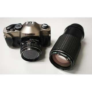 Cosina C1S + Pentax 35mm F2.8 + Pentax 45-125mm F4