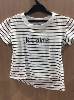 Jet'aime Stripped T-shirt