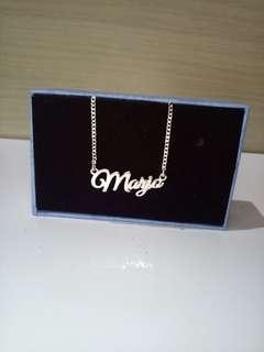 Genuine 925 ITALY SILVER PERSONALIZED NECKLACE