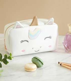 new look unicorn cosmetic pouch
