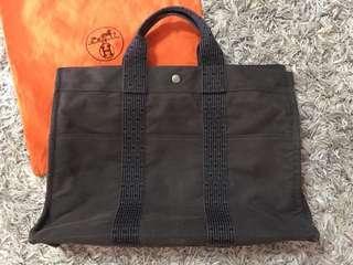 Hermes Herline MM Fourre Tout Canvas Unisex Tote Bag