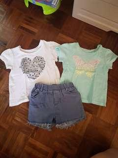 Tops and short