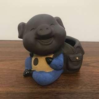 🚚 Ceramic Pig with School Bag#2(with Packing Carton Box)
