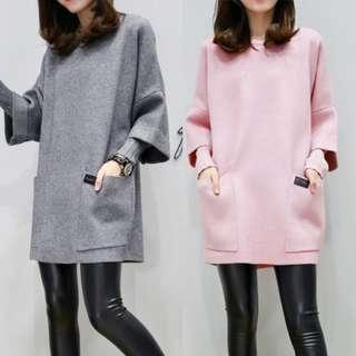 Women Long Hoodies Sweatshirt Pockets Loose Outerwear
