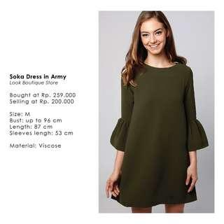 Lookboutique Dress in Army