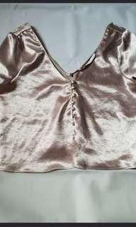 Zara gold top