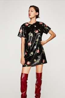 Repriced! BNWT Zara sequin dress