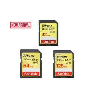 🚚 SanDisk Extreme SDXC UHS-I Memory Card SD Card Up to 150MB/s
