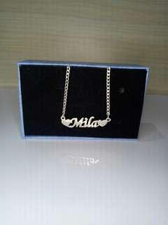 Genuine 925 Italy silver name necklace