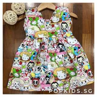 🚚 💕1-10yo Tokidoki Hello Kitty V Back Dress 💕