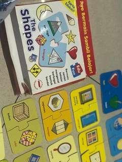 Mainan puzzle kartu edukasi