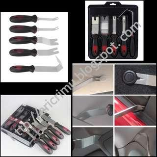 Stainless Steel Pry Tool Set Auto Panel Door Trim Upholstery Clip Remover