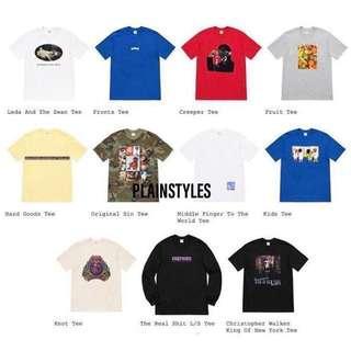 [Preorder] Week 1 Supreme SS19 Tee Shirts