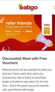 Eatigo Free RM40 Voucher (Brand New Account)