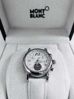 Mont Blanc white steel chronograph lady watch(W0623)