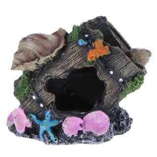 🚚 Artificial Resin Fish Cave Hiding Tank Ornament Aquarium Landscaping Decoration