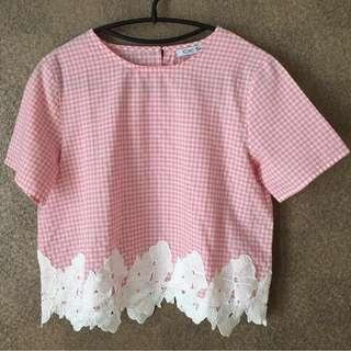 [GARAGE SALE] Female Tops - Mix Fabric