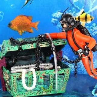 🚚 Treasure Finder Shape Aquarium Fish & Aquatic Pet Supplies Decoration Fish Tank Diver Floating Ornaments