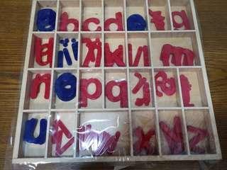 Montessori small moveable alphabets