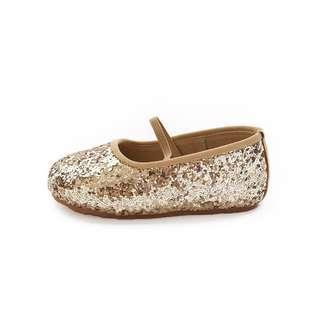 Glitter Shoes sepatu lullabee emily gold size 19