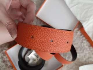 Hermes belt 110cm with 32mm gold Buckle