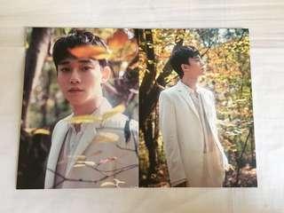 EXO 4巡官方厚身明信片(CHEN)