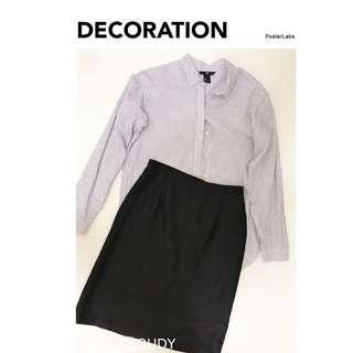 Murphys►職業OL套裝襯衫修身收腰包臀窄裙►