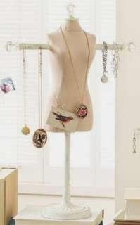 Pottery Barn Mannequin Jewelry Holder/Stand
