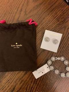 Brand new authentic Kate space bracelet and earrings
