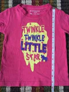 Giordano shirt tee for our little girl 4-6 yrs old