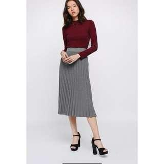 Love bonito sandrine pleated midi skirt