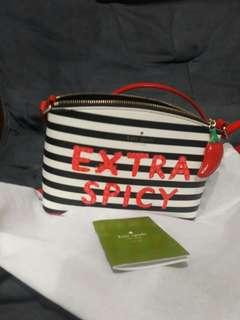 Nwt Kate Spade Extra Spicy Millie Crossbody Pepper Chili Handbag Authentic
