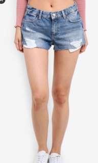 🚚 Topshop Moto Cory denim shorts