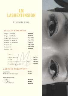 Eyelash Extension Hair Mask Body Scrub and Massage Home Service