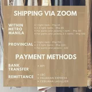 Changing Shipping Via Zoom
