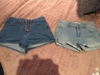 Both worn once fit size 8