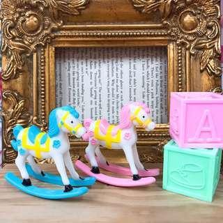 🚚 古董玩具 vintage toy 遙遙小木馬 派對小物 旋轉木馬 彩色小馬 Zakka 雜貨小物 拍照道具  寶寶派對