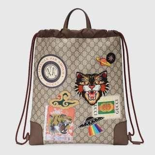 b83338aa0307 Gucci Courrier Soft GG Supreme drawstring backpack