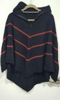 🚚 Wool poncho cardigan jacket pullover